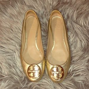 Tory Burch flats gold size 6